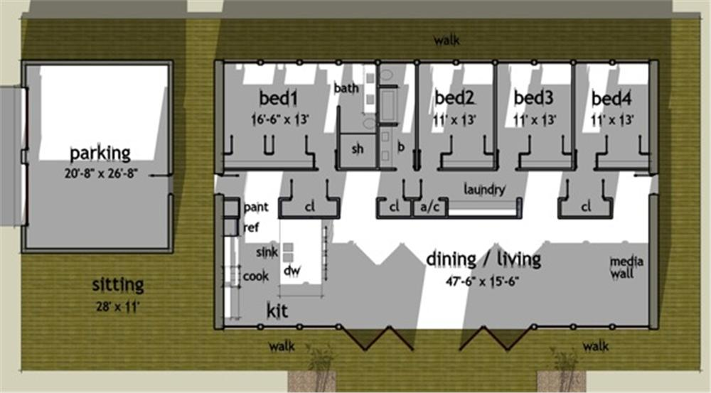 plano principal casa moderna