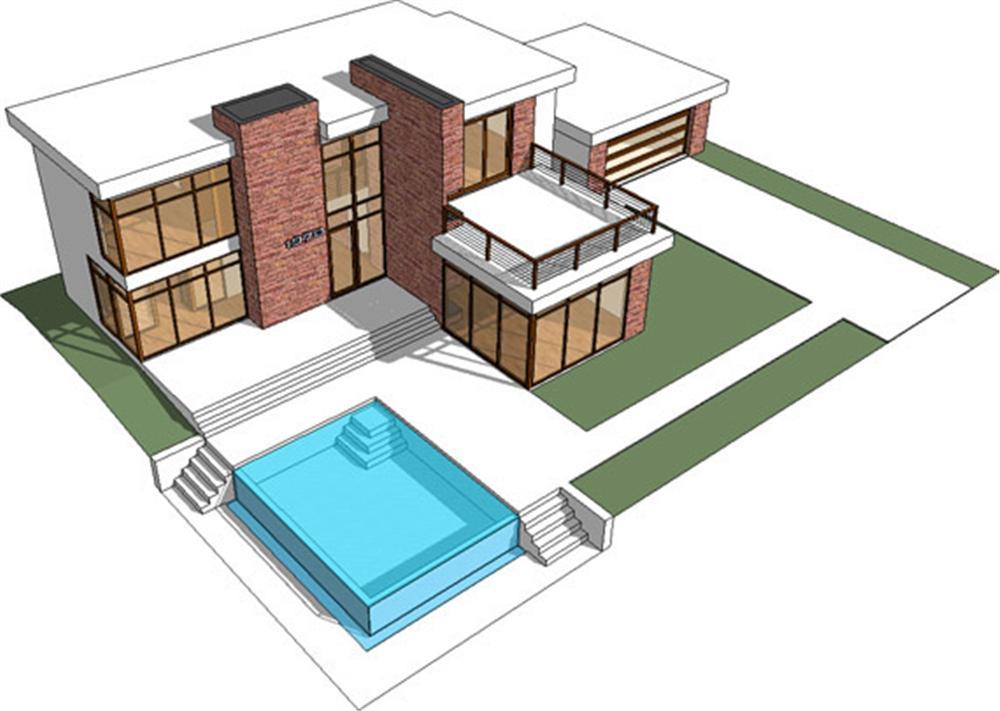 Planos de viviendas planos de casas modernas for Modern castle house plans