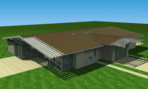 casa moderna vista de arriba