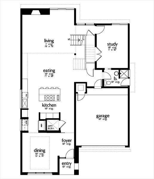 plantas de casas. plano casa moderna