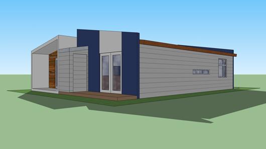 casa moderna lateral