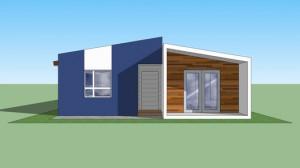 casa moderna delante