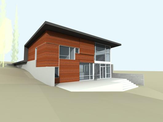 Plano casa moderna 274m2