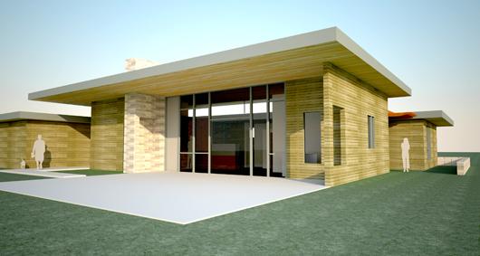 fachada frente casa moderna