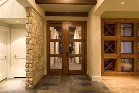 casa moderna puerta interior