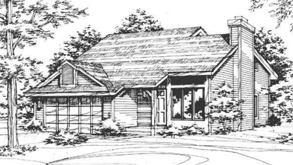 fachada casa de dos plantas dibujo