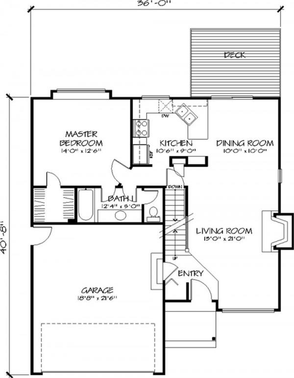 plano principal casa de dos plantas