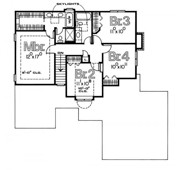 plano de casas unifamiliares piso de arriba
