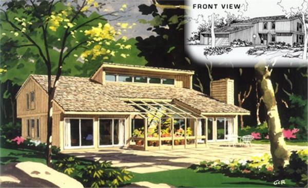 Fachada casa de madera