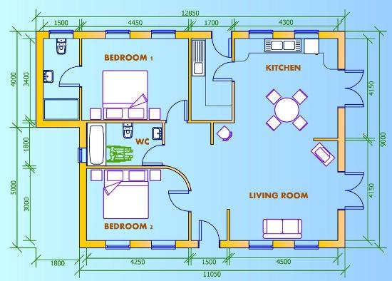 Ejemplo de plano de casa en pdf