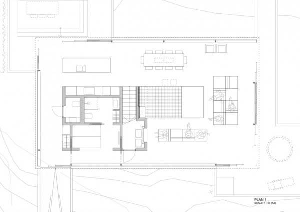 Planos de casa moderna en el desierto