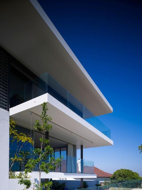 Plano de residencia de cuatro pisos en Australia