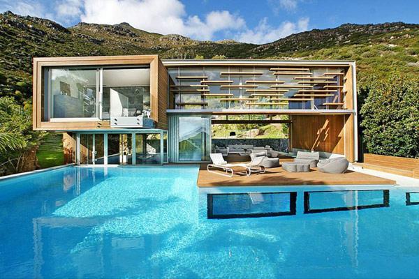 Planos Espectacular Casa Moderna in Sudáfrica: Spa House