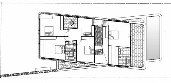 Imagen de planos de casa con terraza techada