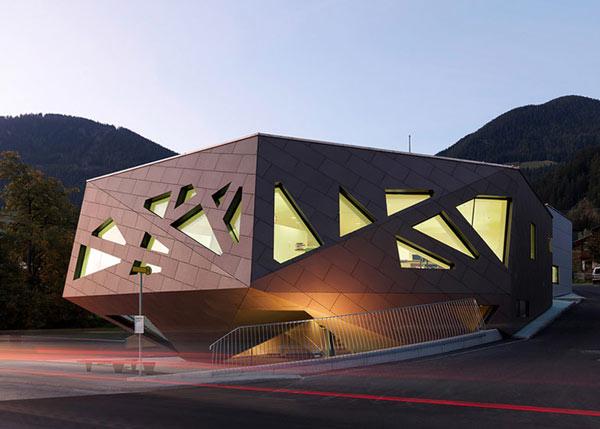 Imagen de planos de casa multigeométrica en Austria