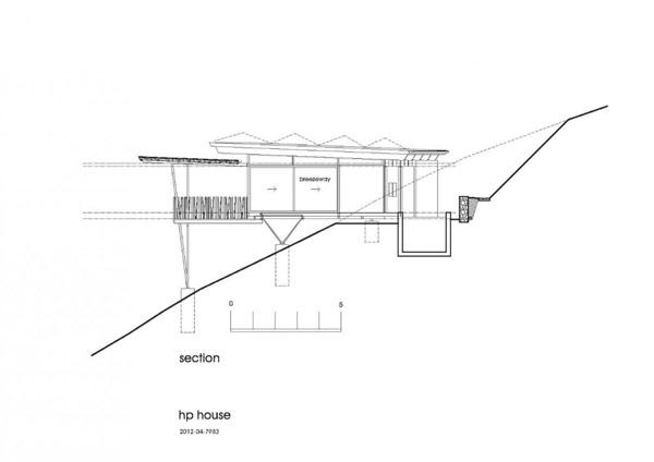 Imagen de planos de casa rodeada de una extensa vegetación