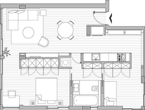 imagen de planos de remodelación de apartamento