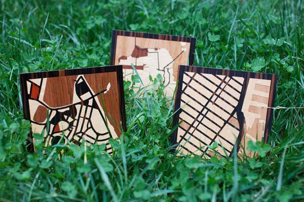 Imagen de Planos impresos en madera