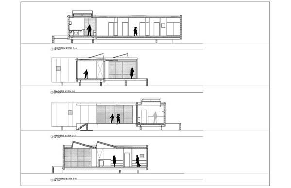 Imagen de planos de casa de vacacion en el desierto