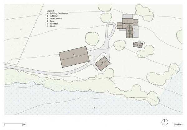 Imagen de planos de granja del siglo XVIII