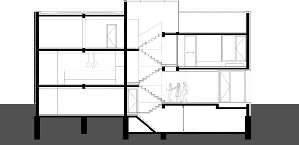 Imagen de planos para construir en un terreno estrecho y largo