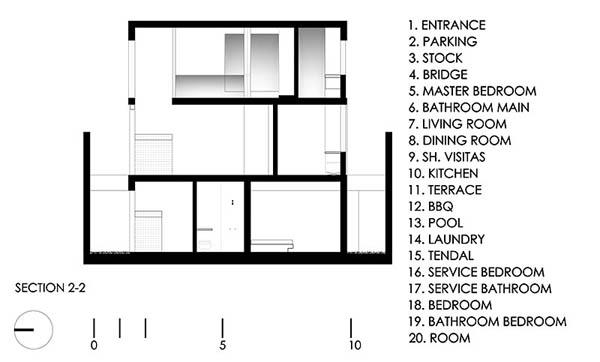 Imagen de Plano de casa con entrada principal en la terraza Lima Perú (1)