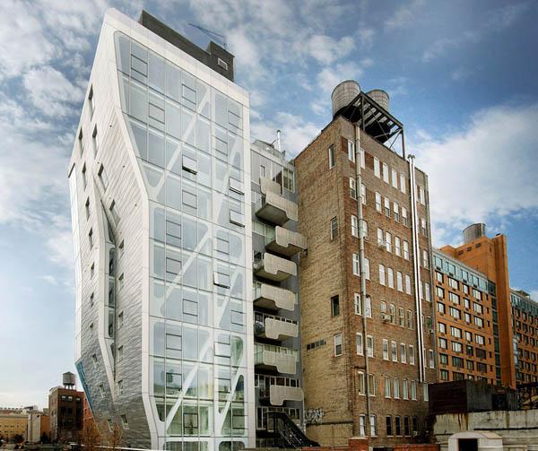Condominio en Nueva york con apariencia metálica