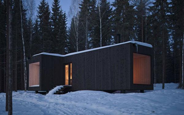 Planos de casa minimalista en Finlandia