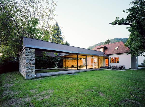 Anexamiento de estructura moderna a casa común planos incluidos (14)