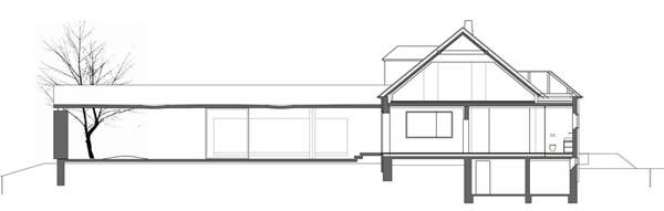 Anexamiento de estructura moderna a casa común planos incluidos (3)