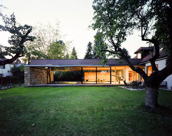 Anexamiento de estructura moderna a casa común planos incluidos (13)