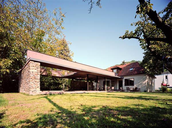Anexamiento de estructura moderna a casa común planos incluidos (12)