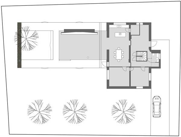 Anexamiento de estructura moderna a casa común planos incluidos (6)