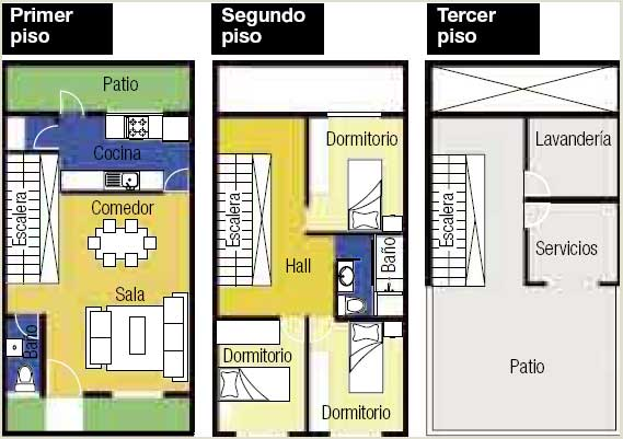 Terreno pequeño - Planos de casas - casa pequeña