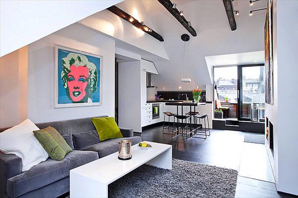 30 modelos y diseños de acomodamiento en apartamentos pequeños (11)