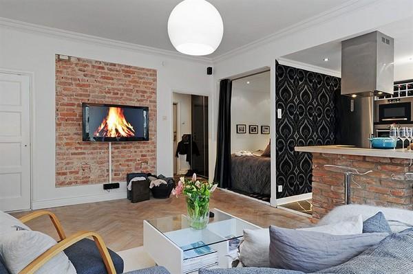 30 modelos y diseños de acomodamiento en apartamentos pequeños (9)