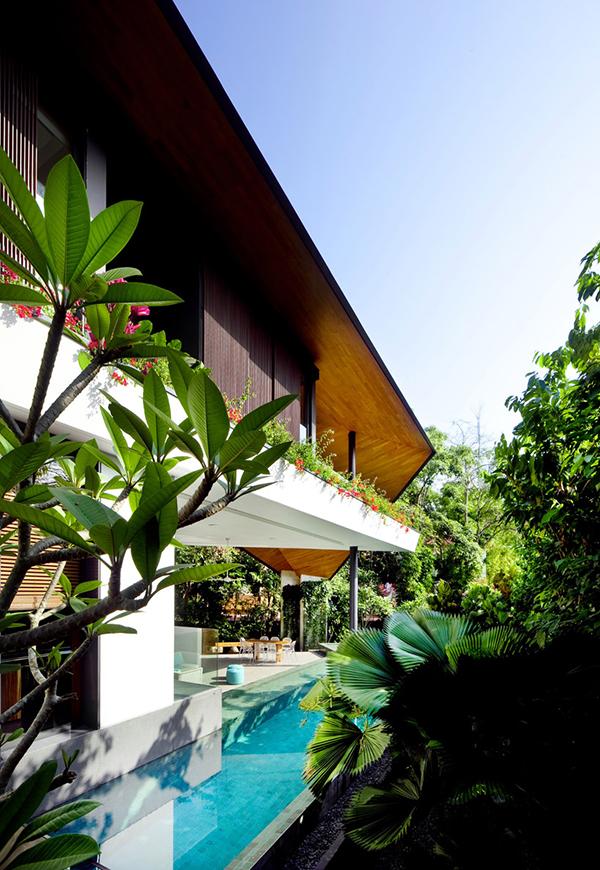 Planos contemporáneos de casa en Singapur (13)