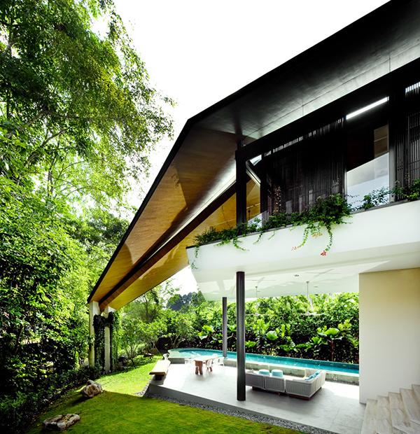 Planos contemporáneos de casa en Singapur (3)