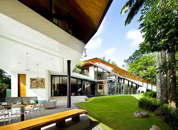 Planos contemporáneos de casa en Singapur (7)