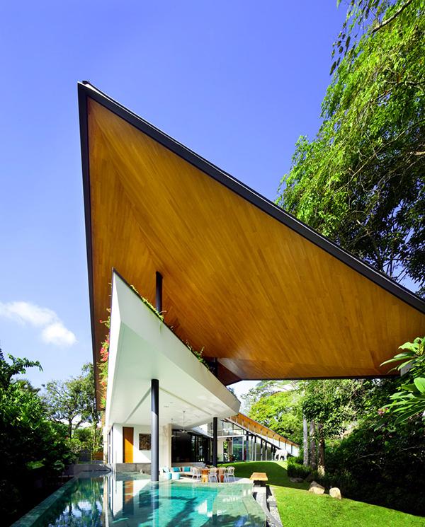 Planos contemporáneos de casa en Singapur (5)
