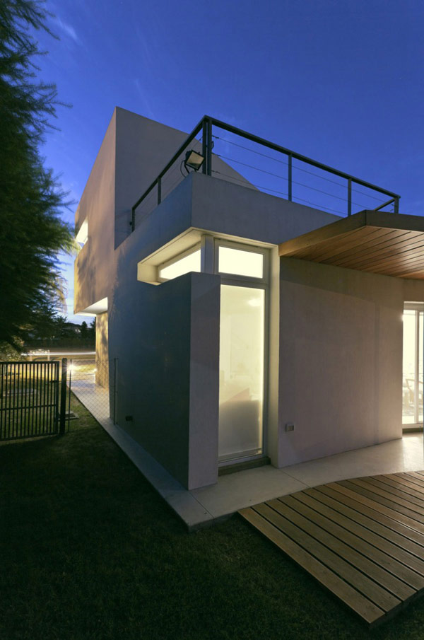 """Planos de casa moderna la casa """"V"""" (8)"""