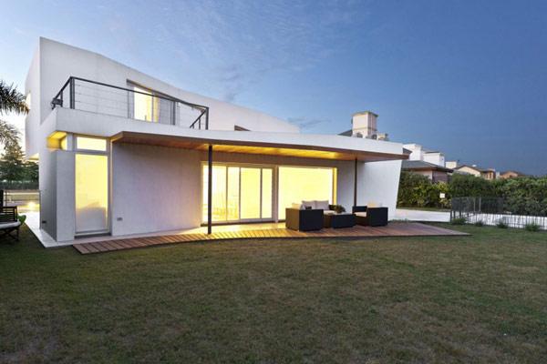"""Planos de casa moderna la casa """"V"""" (7)"""