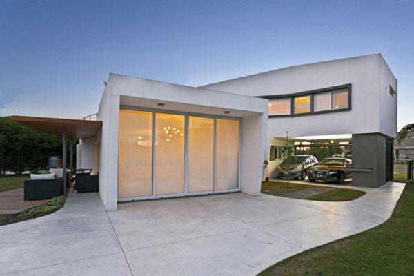 """Planos de casa moderna la casa """"V"""" (6)"""