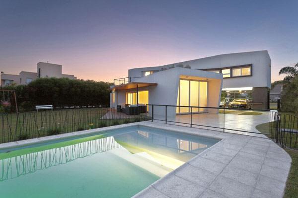 """Planos de casa moderna la casa """"V"""" (5)"""