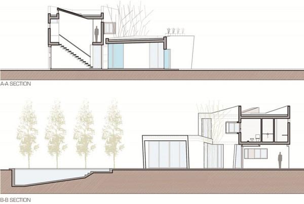 """Planos de casa moderna la casa """"V"""" (1)"""