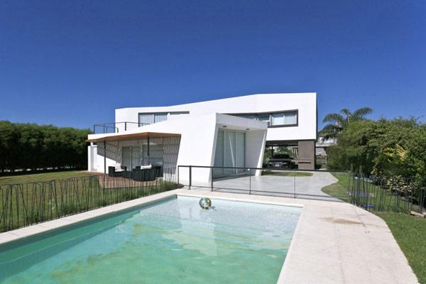 """Planos de casa moderna la casa """"V"""" (17)"""