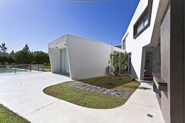 """Planos de casa moderna la casa """"V"""" (16)"""