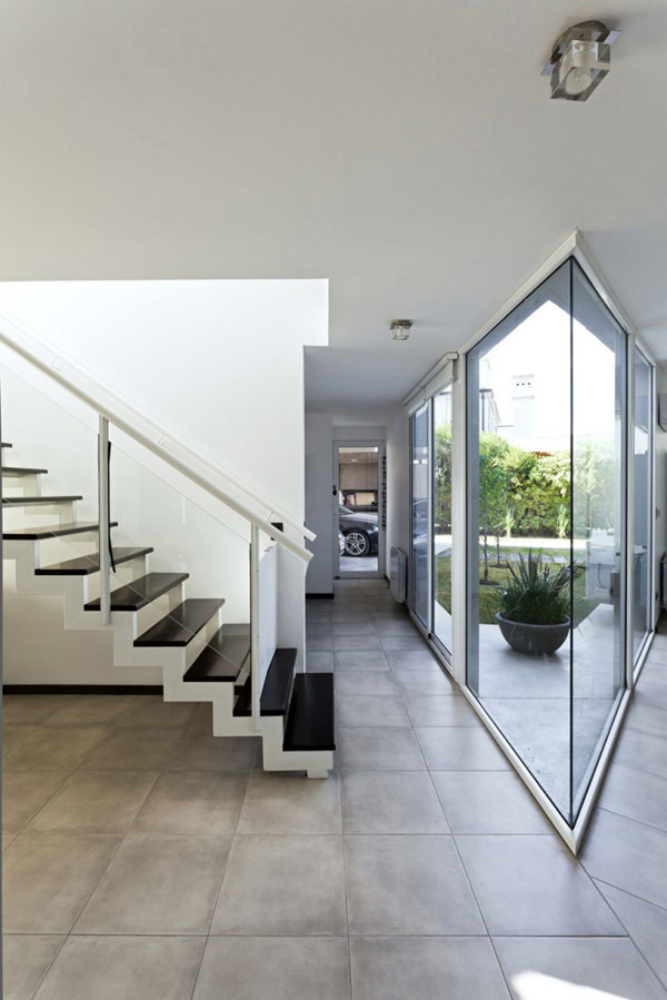 """Planos de casa moderna la casa """"V"""" (12)"""