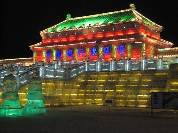 Arquitectura hecha de hielo en china (8)