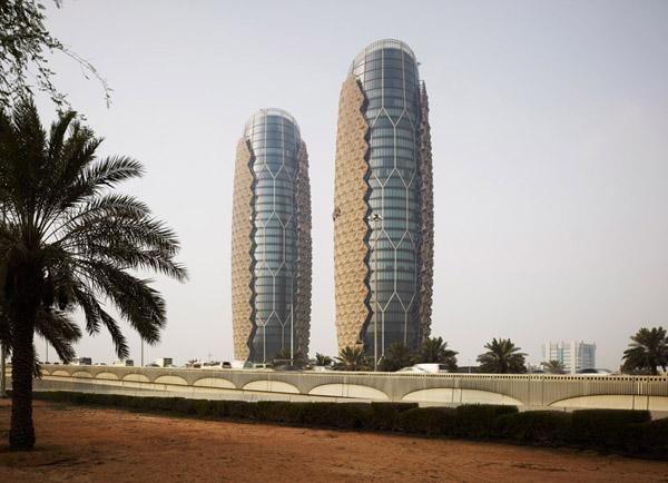 Las torres Al Bahar sistemas de sombra para rascacielos (12)